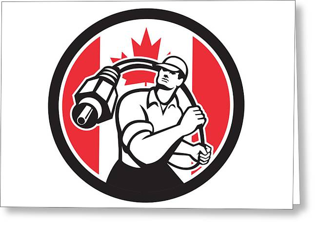 Tradesman greeting cards page 18 of 20 fine art america canadian cable installer canada flag icon greeting card m4hsunfo