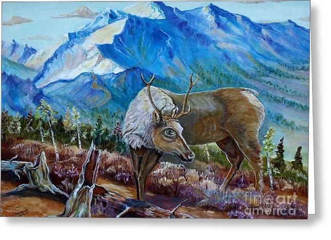 Canadian Caribou Greeting Card