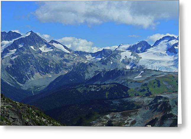Greeting Card featuring the photograph Canadian Glacier Summer Time by Walter Fahmy