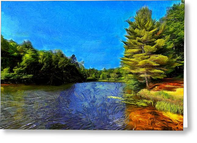 Canadian Lake #2 Greeting Card by Jean-Marc Lacombe