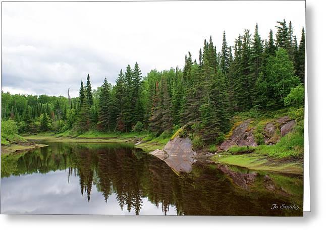 Canadian Landscape Greeting Card by Joanne Smoley