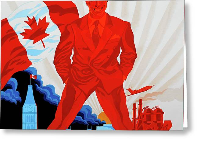 Canadian Liberal Politics Greeting Card by Leon Zernitsky