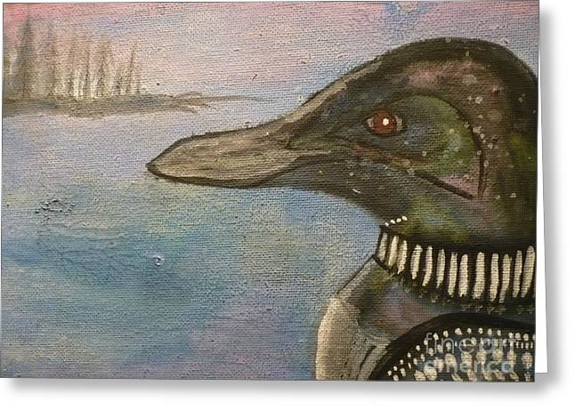 Canadian Loon Greeting Card