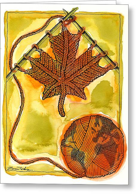Canadian Multiculturalism Greeting Card by Leon Zernitsky