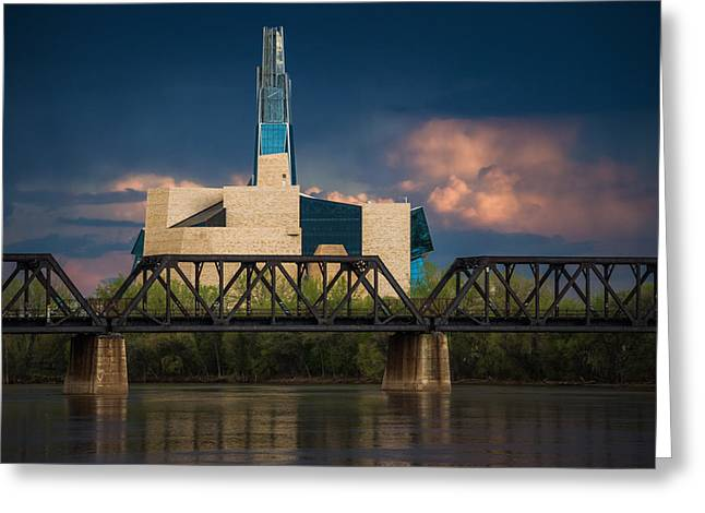 Canadian Museum For Human Rights Greeting Card by Bryan Scott