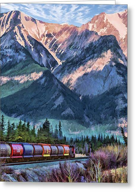 Canadian National Railway In Jasper Greeting Card