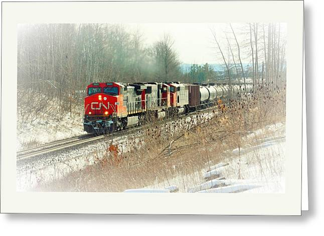 Canadian National Railway Vignette Greeting Card