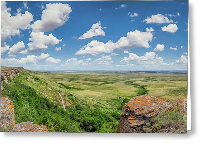 Canadian Prairie At Head-smashed-in Buffalo Jump Greeting Card
