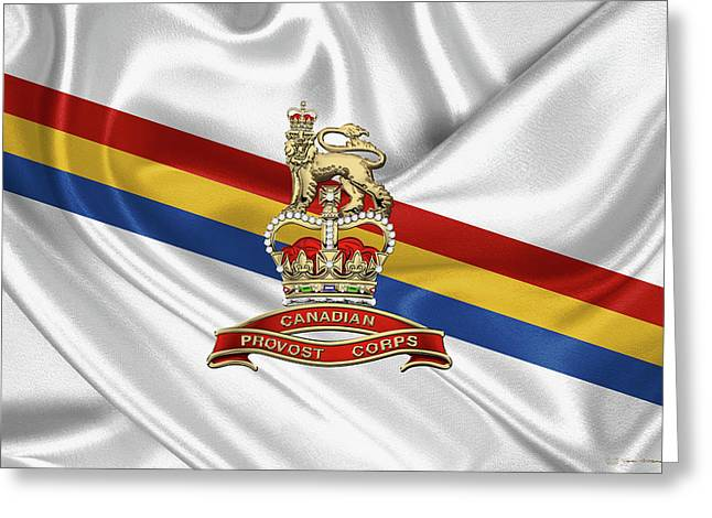 Canadian Provost Corps - C Pro C Badge Over Unit Colours Greeting Card by Serge Averbukh