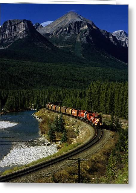 Canadian Railroad Greeting Card by Susan  Benson