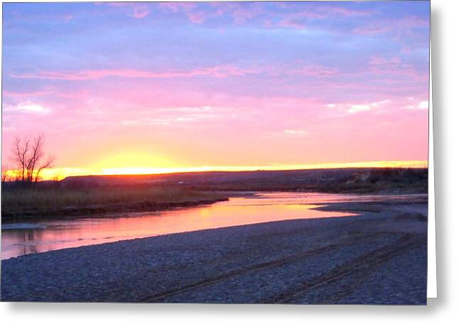 Canadian River Sunset Greeting Card