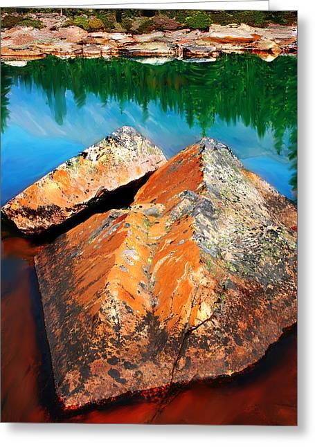 Transformative Art Greeting Cards - Canadian Rockies Greeting Card by Lisa Redfern