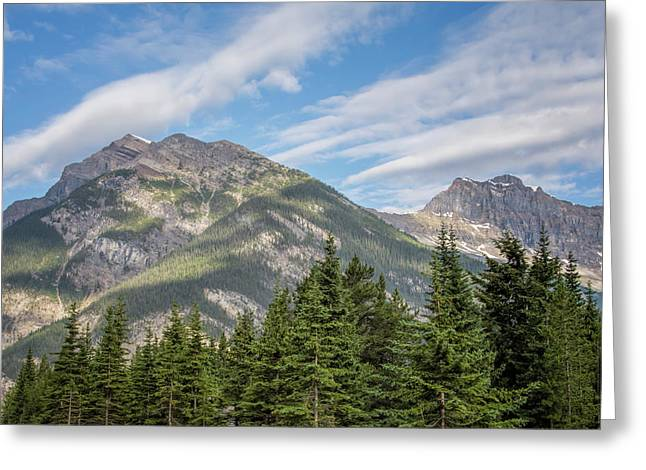 Canadian Rockies Near Kicking Horse Pass Greeting Card by Joan Carroll