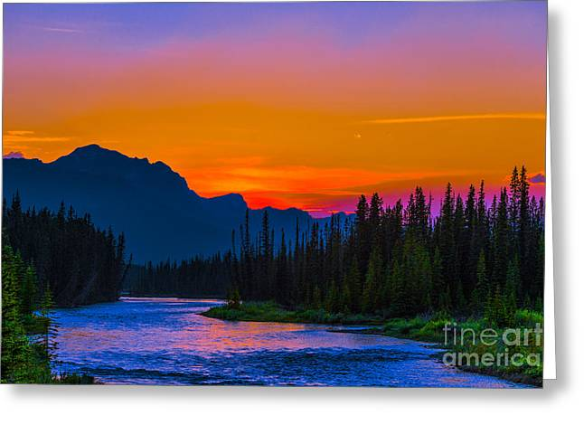 Canadian Rocky Sunset Greeting Card