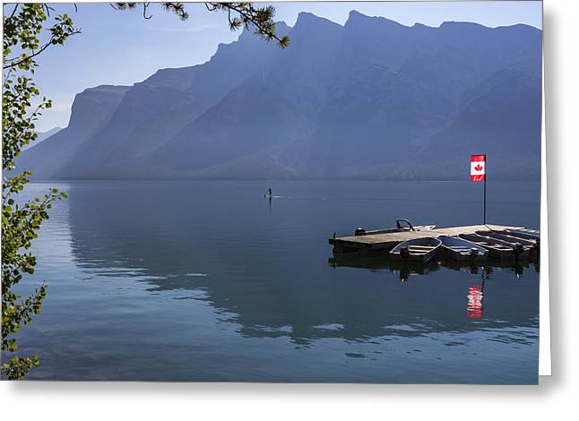 Canadian Serenity Greeting Card by Angela A Stanton