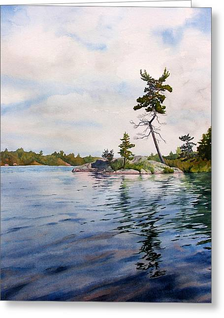 Canadian Shield Sculpture Greeting Card by Debbie Homewood