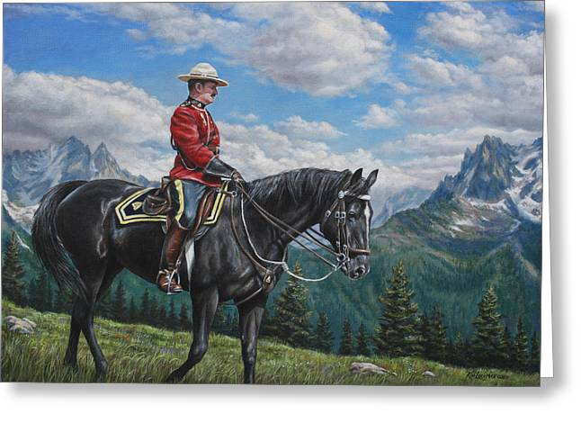 Greeting Card featuring the painting Canadian Majesty by Kim Lockman