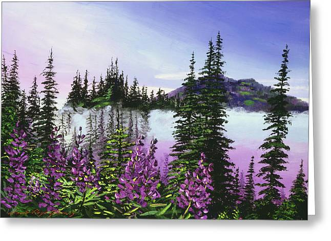 Pine-mist Greeting Cards - Canadian Sunrise Greeting Card by David Lloyd Glover