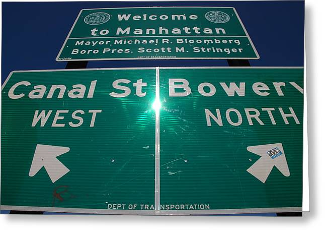 Canal And Bowery Greeting Card