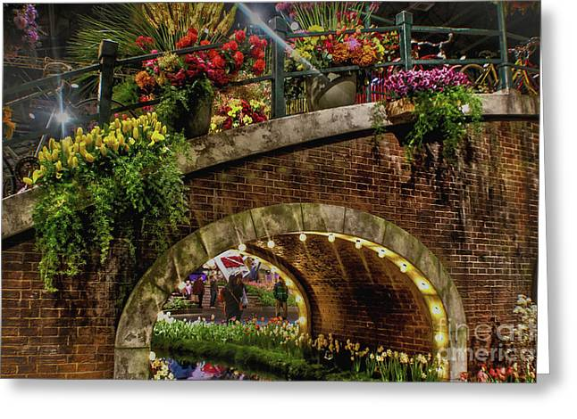 Canal And Bridge  Greeting Card by Sandy Moulder