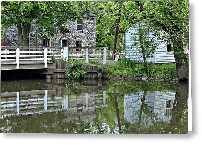 Canal At Griggstown Greeting Card by Steven Richman