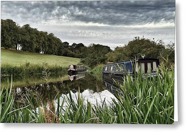 Canal Boats Greeting Card by RKAB Works