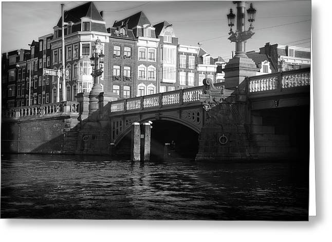 Greeting Card featuring the photograph Canal Bridge by Scott Hovind