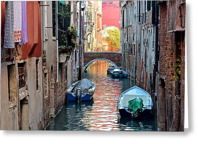 Canal Clothes And Colors Greeting Card