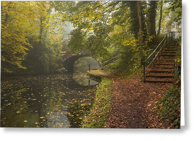 Canal Crossing Greeting Card by Chris Fletcher