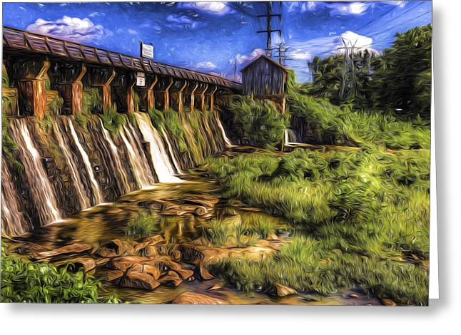 Canal Dam Greeting Card
