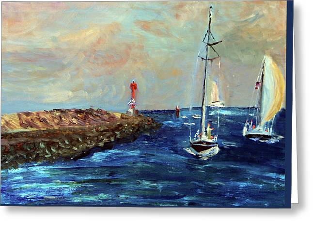 Canal Entrance Greeting Card by Michael Helfen