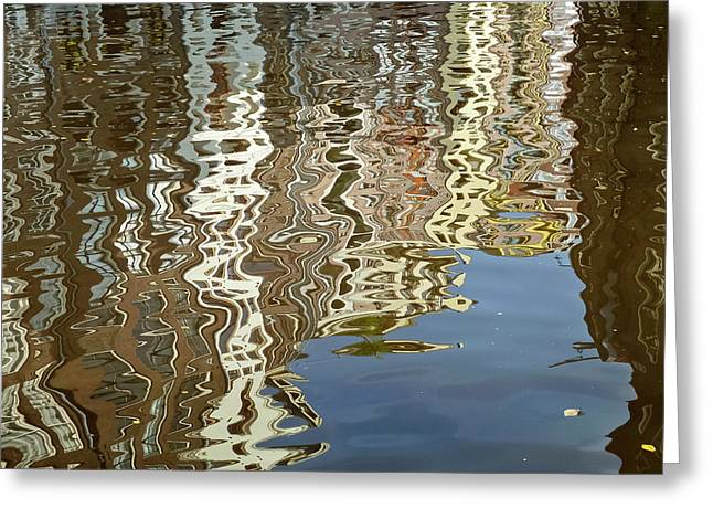 Old Home Place Greeting Cards - Canal House Reflections Greeting Card by Joan Carroll