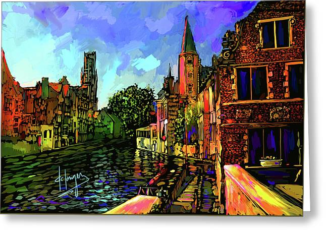 Canal In Bruges Greeting Card