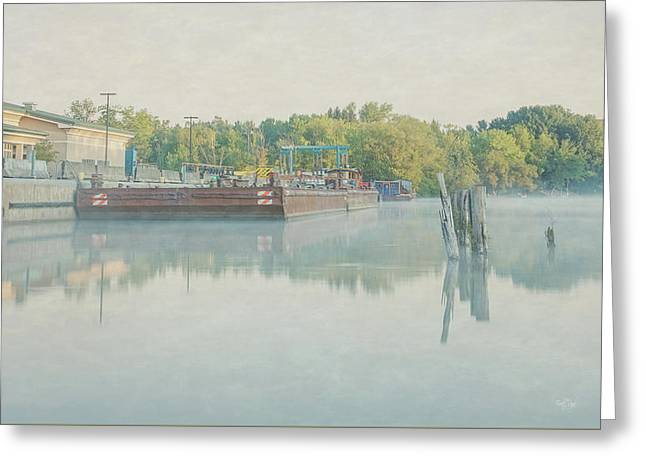 Greeting Card featuring the photograph Canal In Pastels by Everet Regal
