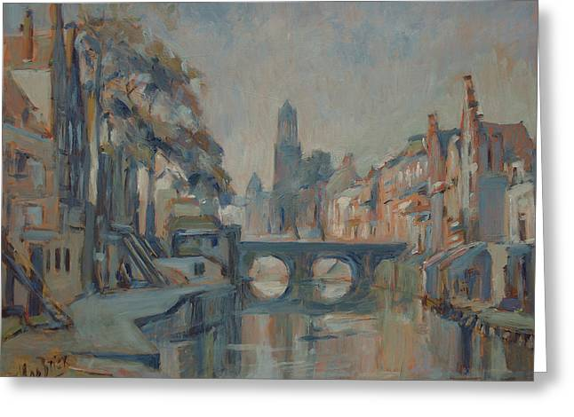 Canal In Utrecht Greeting Card