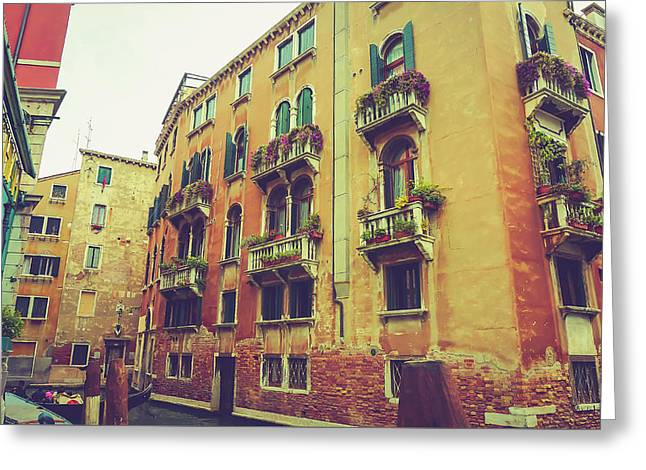 Canal In Venice, Italy Greeting Card