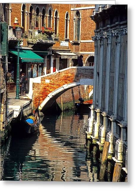 Canal Next To Church Of The Miracoli In Venice Greeting Card by Michael Henderson