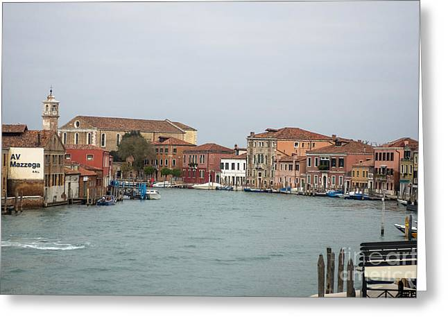 Canal Of Murano Greeting Card