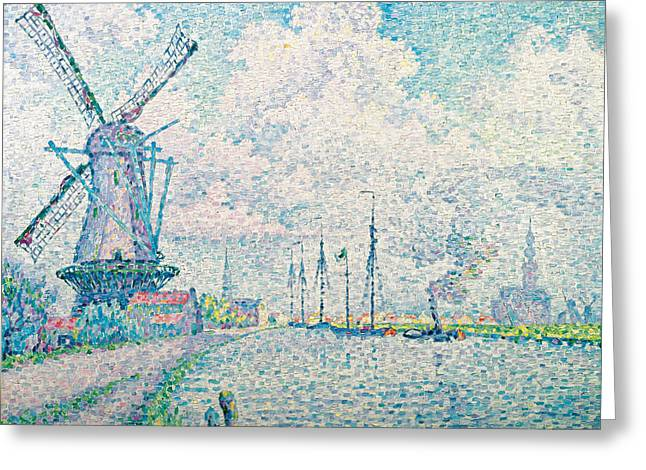 Canal Of Overschie Greeting Card by Paul Signac