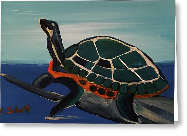 Canal Pointe Turtle Greeting Card