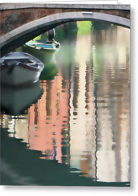Canal Reflection San Barnaba Greeting Card by Vicki Hone Smith