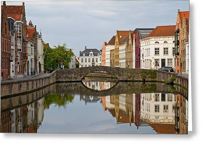 Canal Reflections Greeting Card