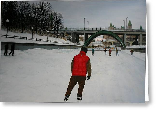 Canal Skate Greeting Card