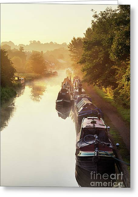 Canal Sunrise Greeting Card by Tim Gainey