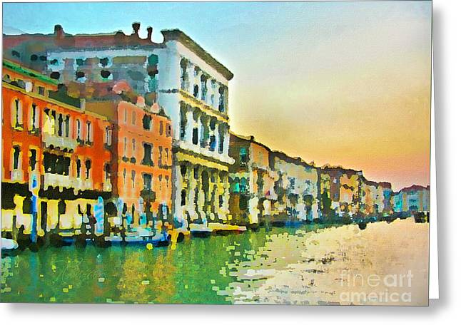 Canal Sunset - Venice Greeting Card