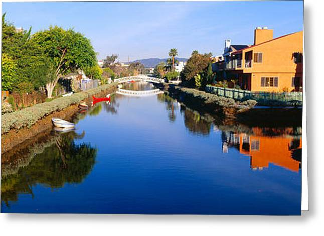 Canal, Venice, California Greeting Card by Panoramic Images