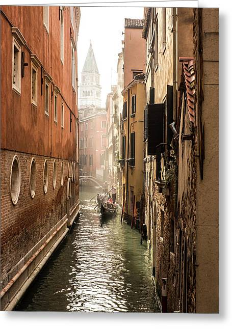 Canale Ponte De Lovo Greeting Card by Marco Missiaja