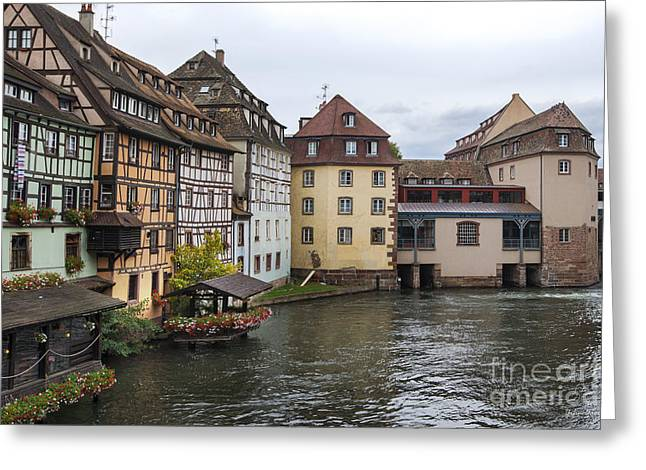 Canals Of Strasbourg Greeting Card by Yefim Bam