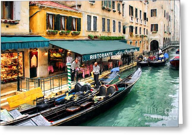 Canals Of Venice # 3 Greeting Card by Mel Steinhauer