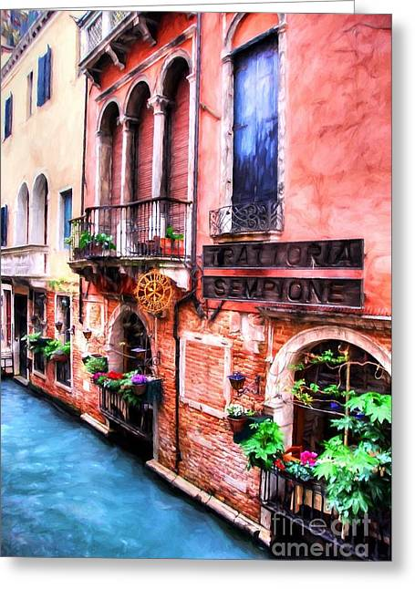 Greeting Card featuring the photograph Canals Of Venice # 4 by Mel Steinhauer